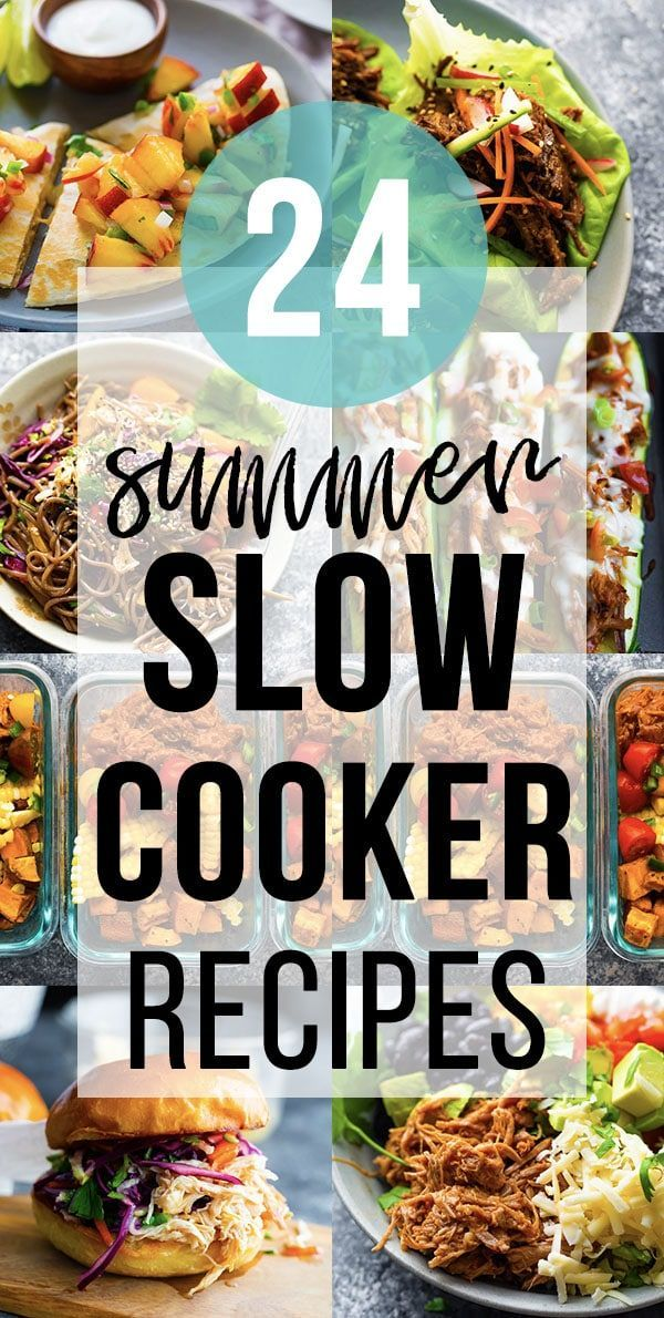 24 Easy Summer Slow Cooker Recipes | SweetPeasAndSaffron.com
