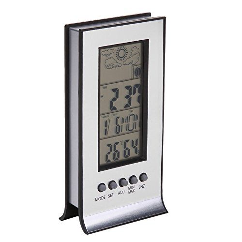 Thermometer Hygrometer Weather Station Humidity And Temperature Monitor Cl Wireless Alarm Clock Tesster