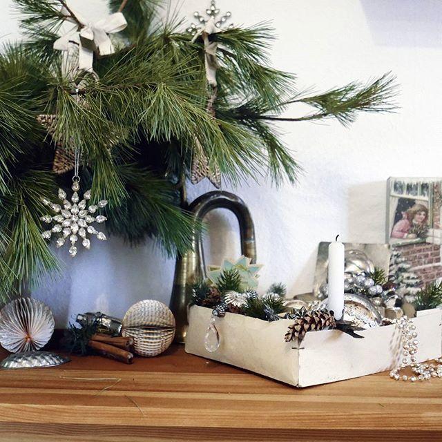 In diesem Jahr habe ich auf meinem Sideboard als Weihnachtsdeko alle möglichen Accessoires ausgebreitet, die man rund um Weihnachten braucht: Baumschmuck, eine Trompete, eine silberne Kette,  Kerzen,  Dosen,  Ausstecher, Notenhefte ... #weihnachten #weihnachtsdeko #weihnachtszeit #weihnachtszauber #adventdecoration #christmastime #christmasdecoration #themagicofchristmas #christmasdecorations #christmasdecor #christmasdecorating #itsthebesttimeoftheyear #itschristmastime #antique_r_us #snap_...