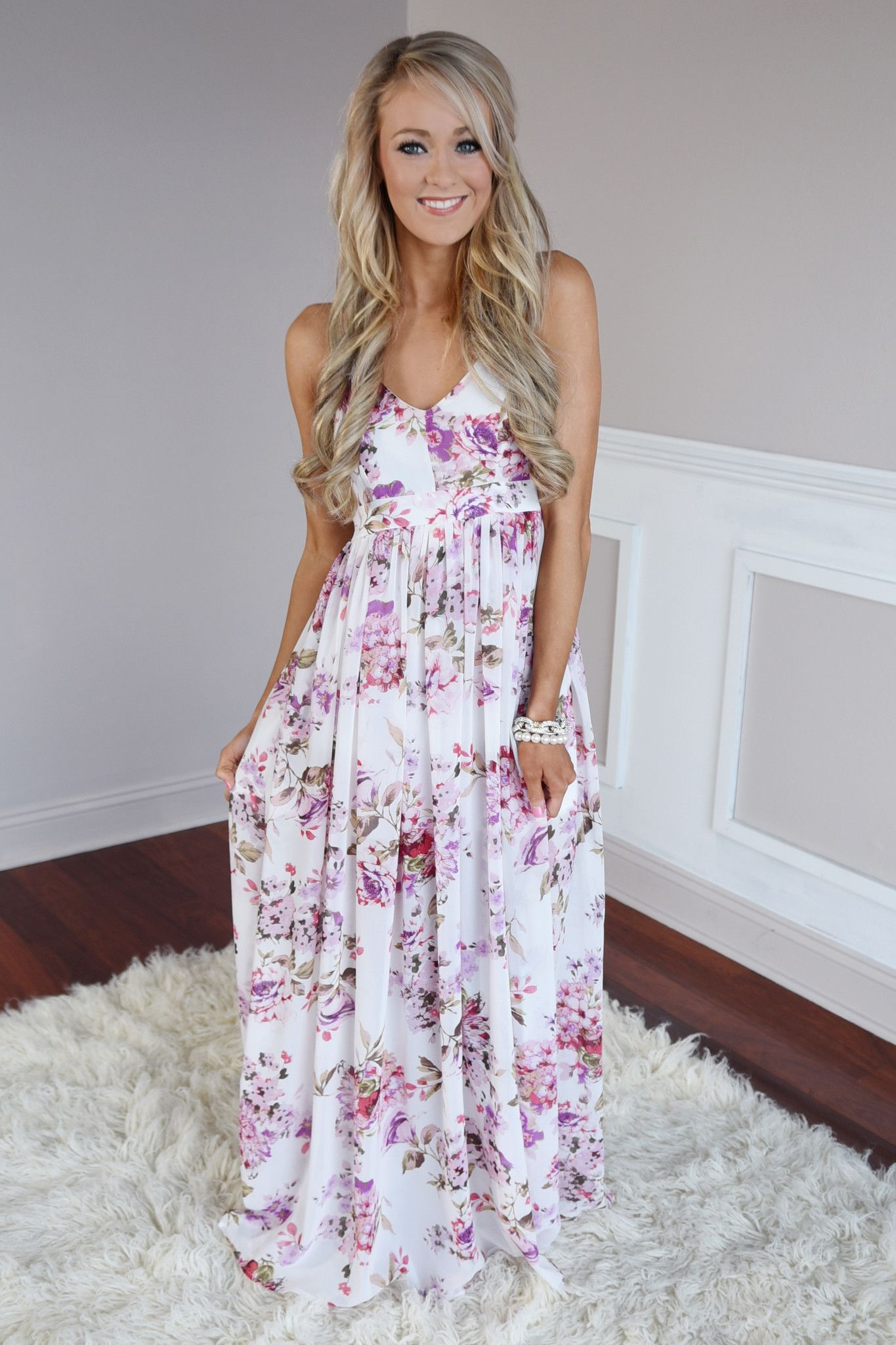 55ee54bcbb48 Fields of Freesias Maxi ~ Ivory – The Pulse Boutique