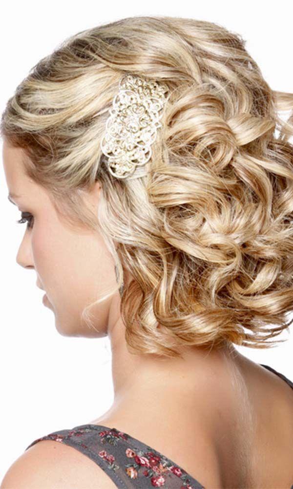48 Trendiest Short Wedding Hairstyle Ideas Wedding Forward Formal Hairstyles For Short Hair Cute Curly Hairstyles Hair Styles
