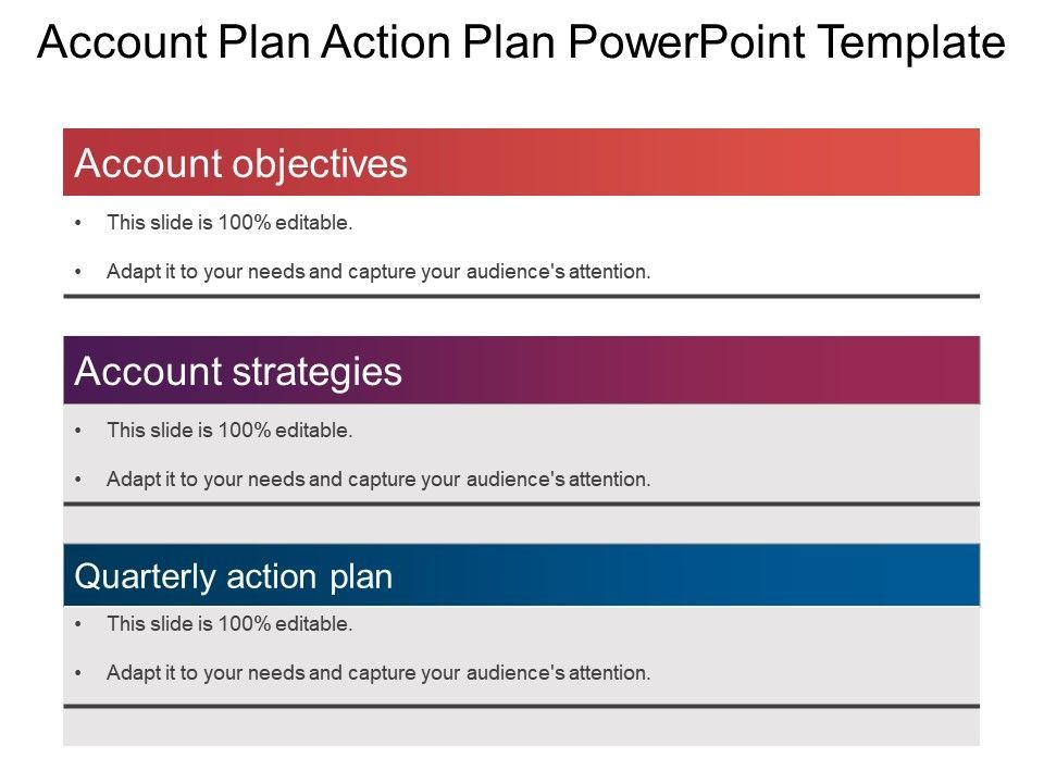 20 Account Plan Template Ppt in 2020 Simple business