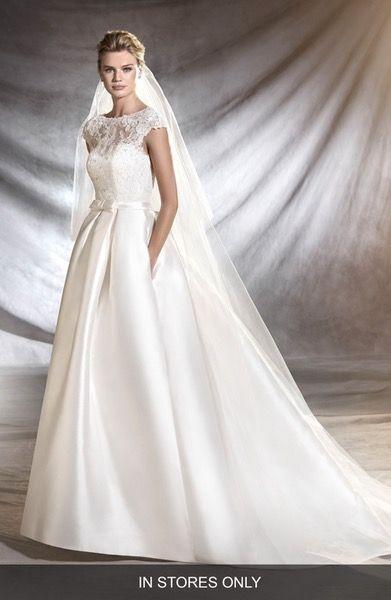main image - pronovias osasun lace bodice ballgown (in stores only