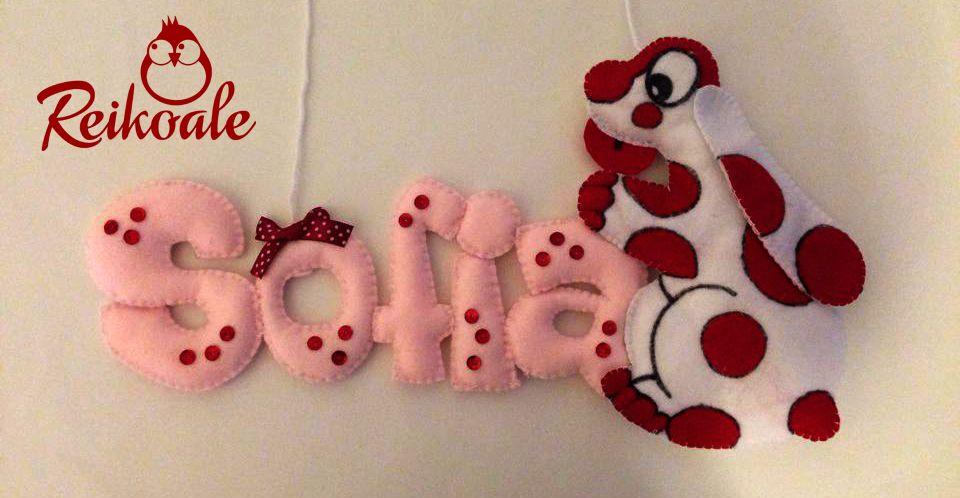 #fattoamano #handmade #reikoale #creazioni #pannolenci #feltro #nome #culla #pimpa