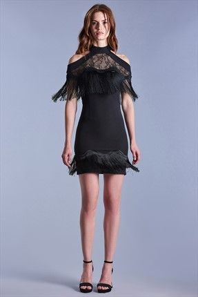 Kadin Raisa Vanessa For Trendyol Sonia Siyah Elbise Sonia Siyah Elbise Raisa Vanessa For Trendyol Kadin Siyah Kisa Elbise Kisa Elbise Siyah Elbise