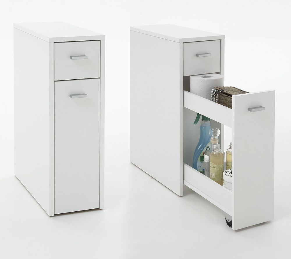 Denia Genius Slimline Bathroom Kitchen Slide Out Storage Drawer Unit Ebay Slim Bathroom Storage Bathroom Storage Units Bathroom Storage Cabinet