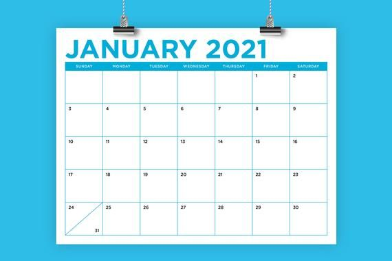 8 5 x 11 inch color 2021 calendar template instant on office wall colors 2021 id=67129