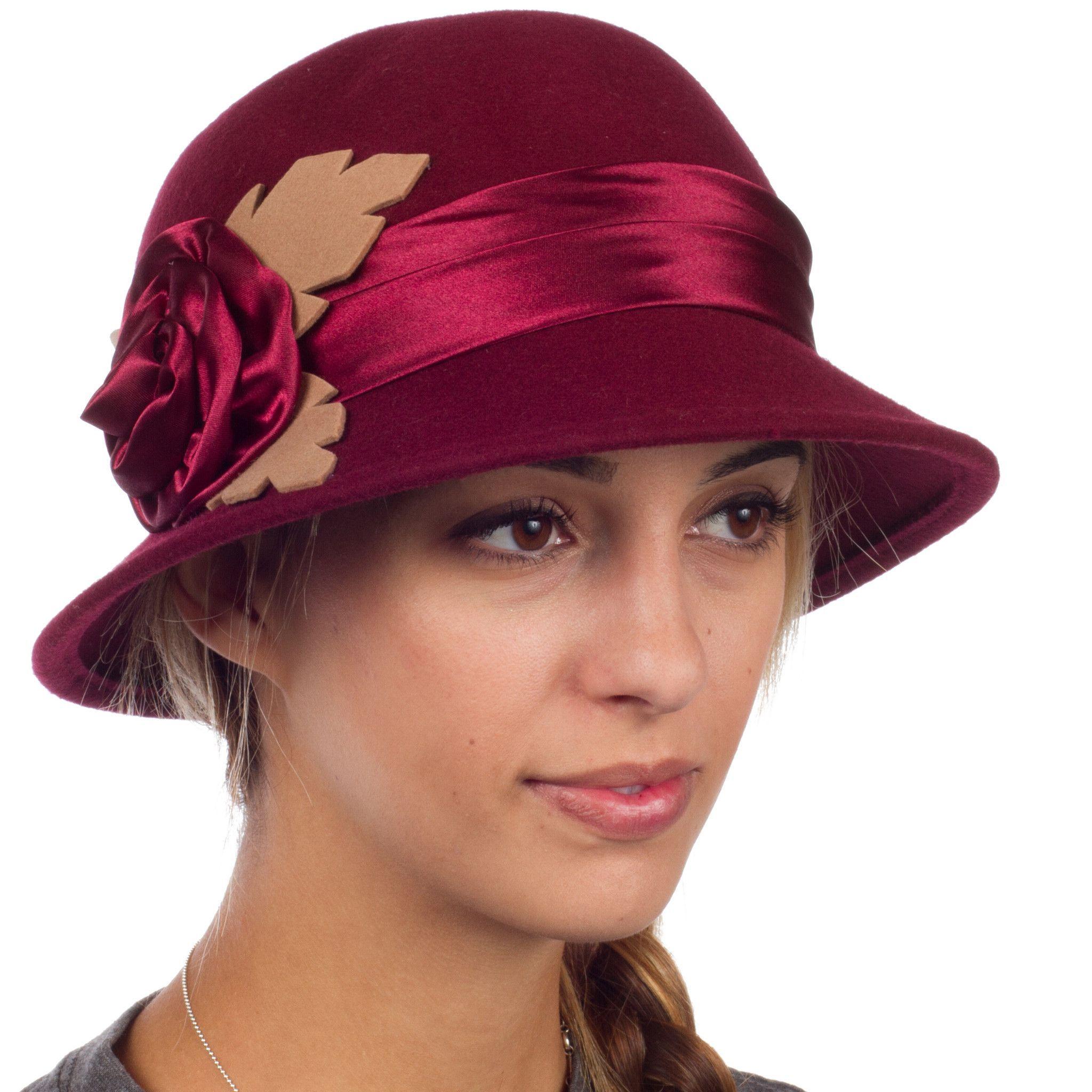 c5c01fcbc08f5 Sakkas Farrah Vintage Style Wool Cloche Hat