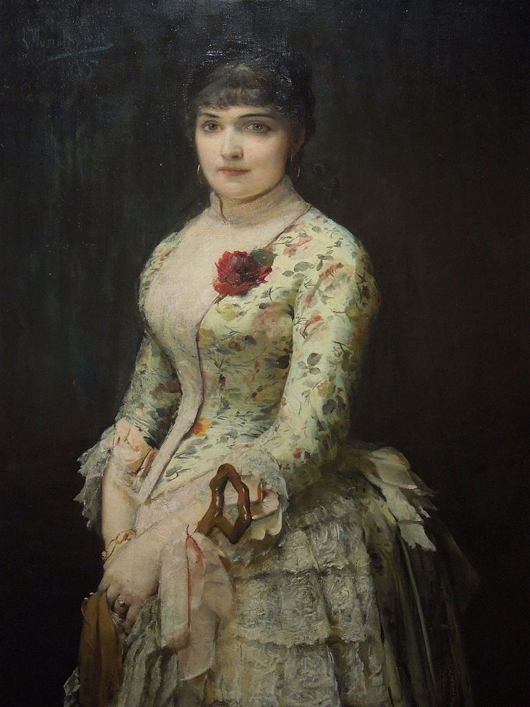Leon Wyczółkowski - Portrait of Woman with a Rose (1885)
