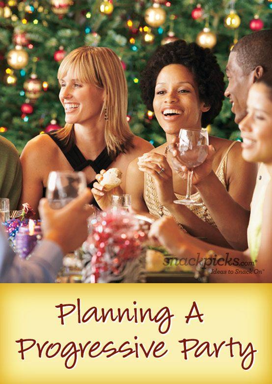 Progressive Party Snackpicks Ideas To Snack On Progressive Dinner Party Progressive Dinner Christmas Party Themes