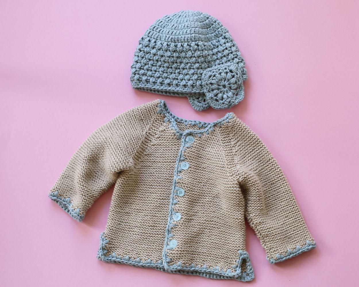 Kostenlose Anleitung Babyjacke Mütze Initiative Handarbeit
