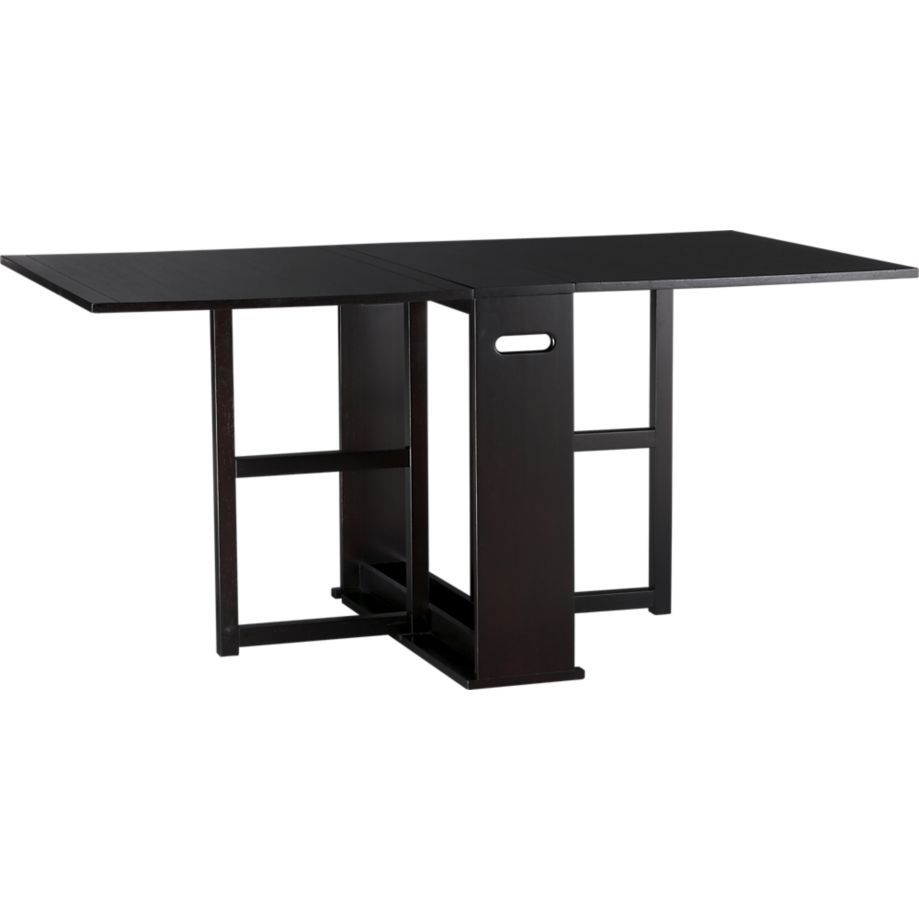 Span Espresso Gateleg Dining Table Crate And Barrel This Will Be