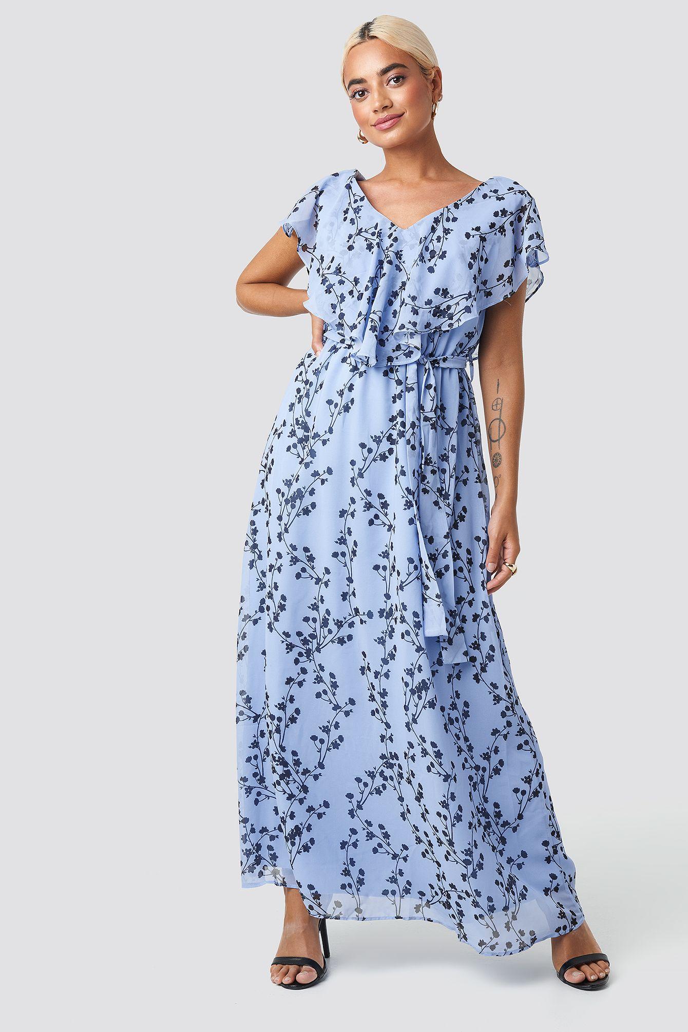 Belted Patterned Long Dress In 2020 Lange Kleider Marine Uniform Lassiges Kleid