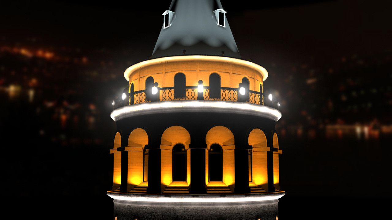 Galata Tower Ma D Model DModeling Pinterest Tower