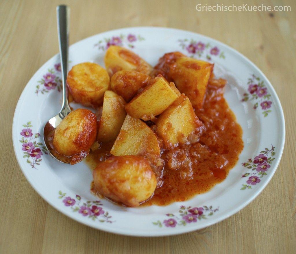 Kartoffeln Jachni Griechische Kuche In 2020 Lebensmittel Essen Kochrezepte Einfache Gerichte
