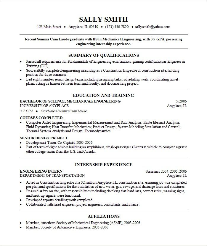 Example College Resumes Pinvio Karamoy On Resume Inspiration  Pinterest  College .