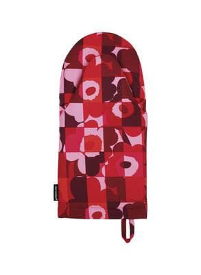 This Heavyweight Cotton Oven Mitten In The Mini Ruutuunikko Print Awesome Kitchen Mittens Decorating Inspiration