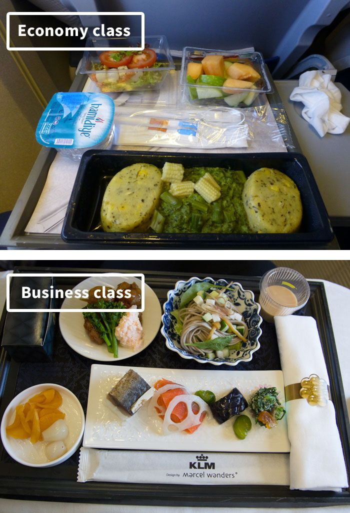 Airline Food Economy Vs. First Class (30 Pics) in 2020