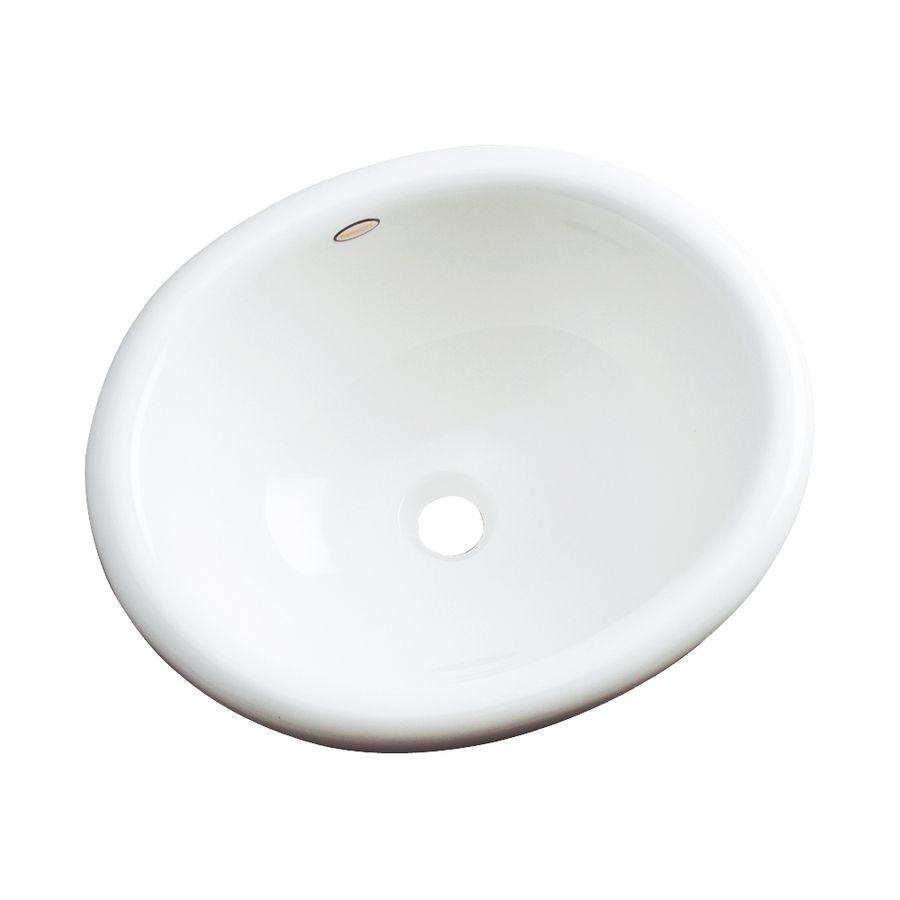 Superieur Dekor Costa White Composite Drop In Oval Bathroom Sink With Overflow