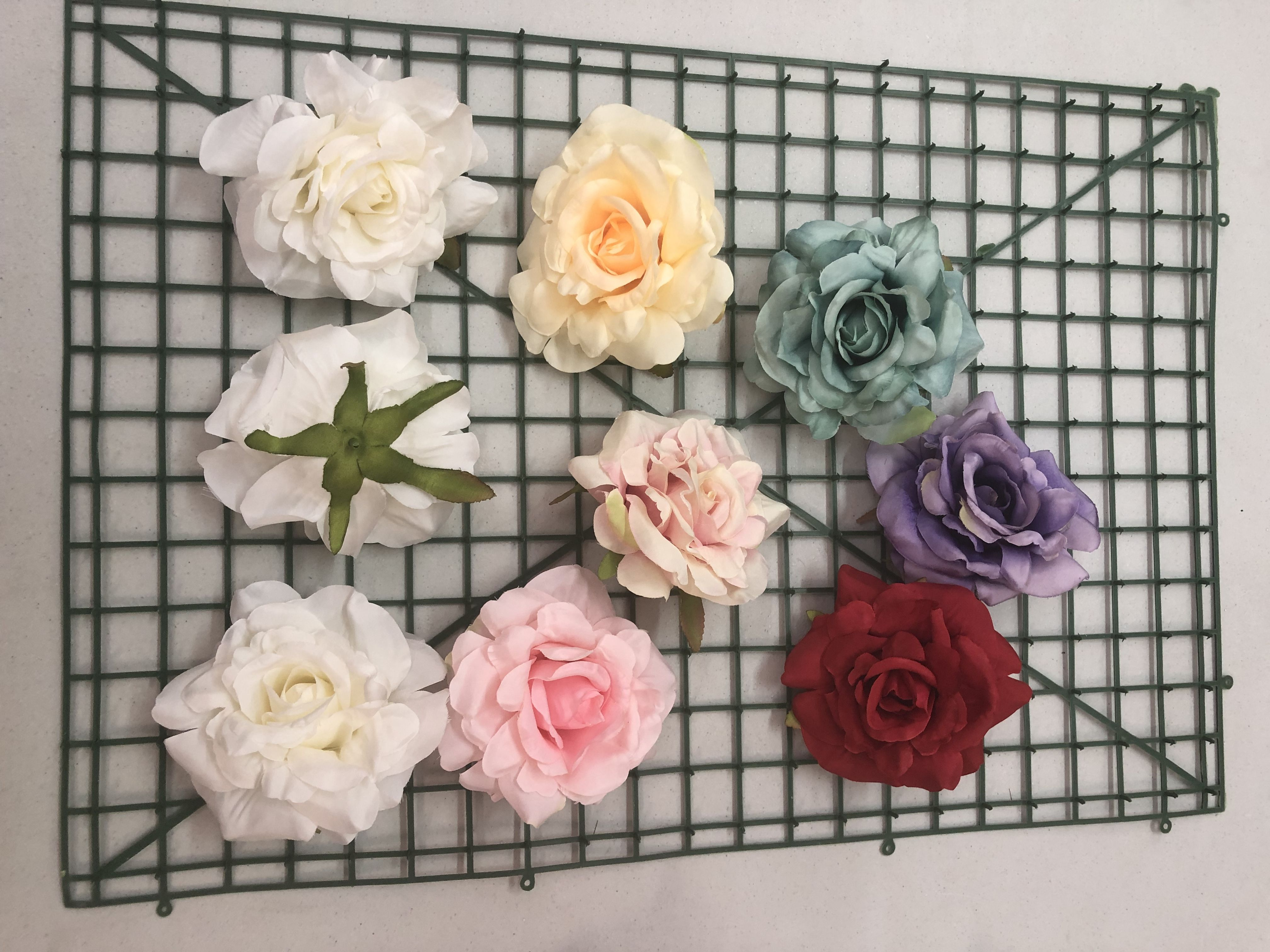 Silk Flower Rose Heads Multiple Colours Available With Quantity