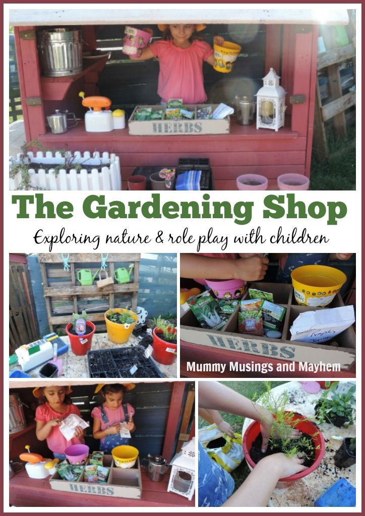 How to have fun gardening with children! PreK Dramatic Play themes