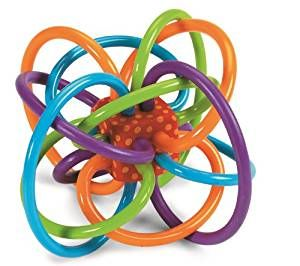 Amazon.com: Manhattan Toy Winkel Rattle and Sensory Teether Activity Toy, 5L x 3.5H x 4W-Inch: Toys & Games