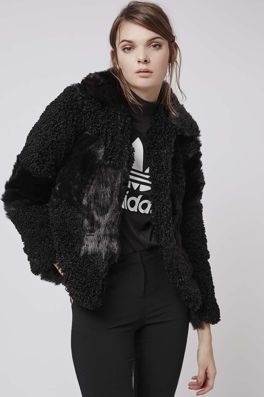 PETITE Patchwork Faux Fur Jacket - Coats - Clothing - Topshop | On ...