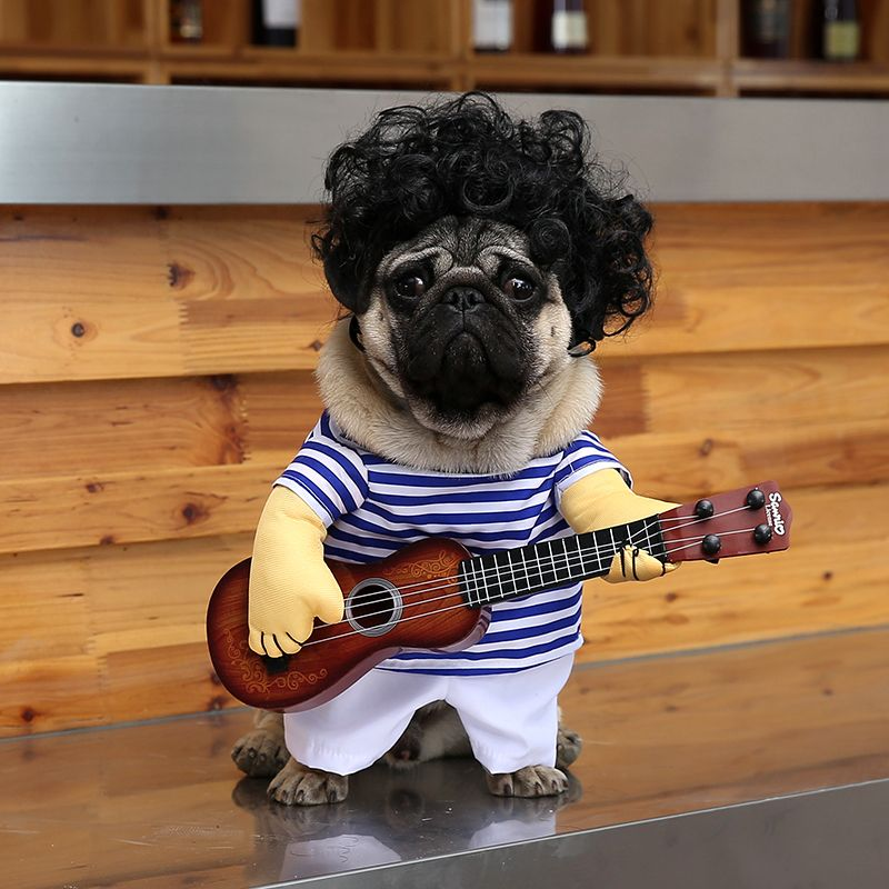 Guitar Dog Clothes for Dogs Costume Funny Pet Halloween ...