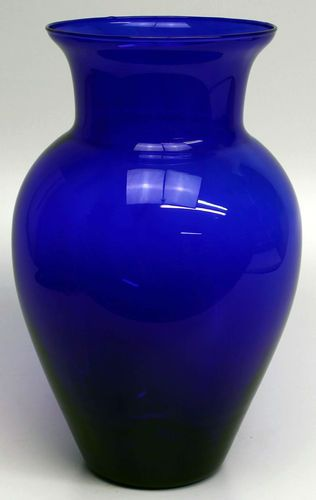 Vintage Huge 13 1 4 Tall Cobalt Blue Vase Very Good Condition