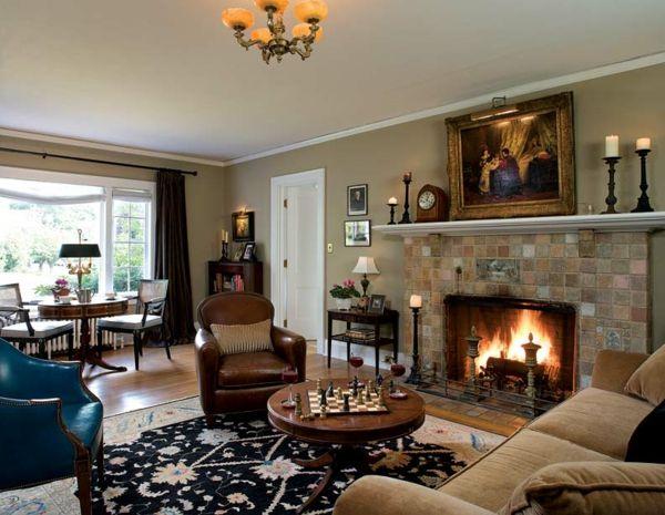 moderne möbel und graue wandfarbe im wohnzimmer - Wohnzimmer - luxus wohnzimmer einrichtung modern