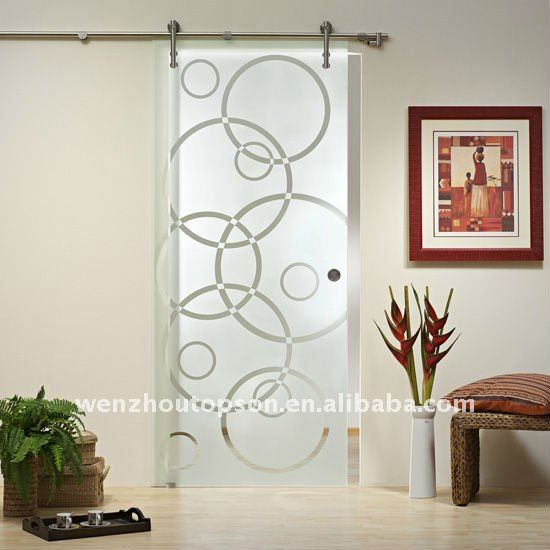 glass frosted glass barn door