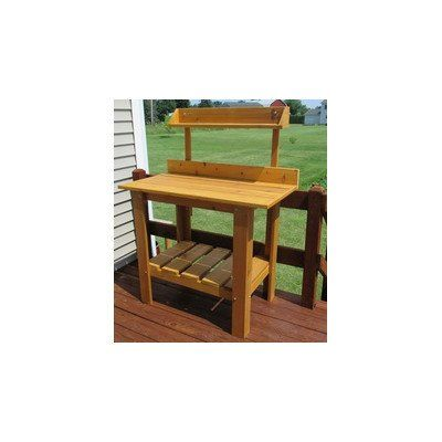 Infinite Cedar 44 In Premium Quality Potting Table Brown -- For more
