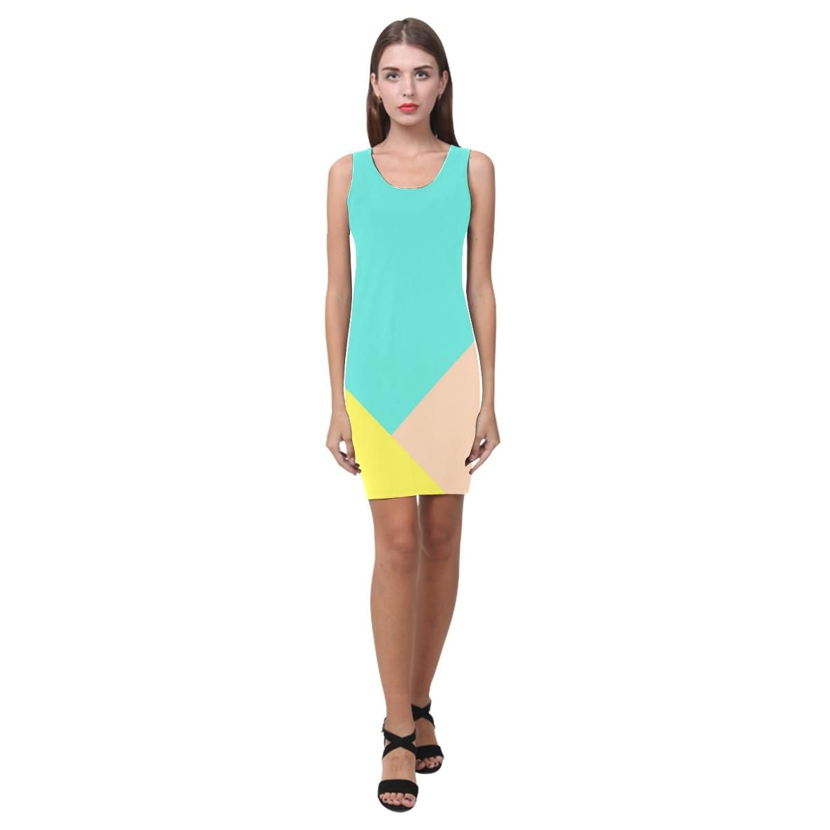 Dresses to wear to a wedding as a guest over 50  Kapow Bright Color Block Vest Dress  Bright colours Color