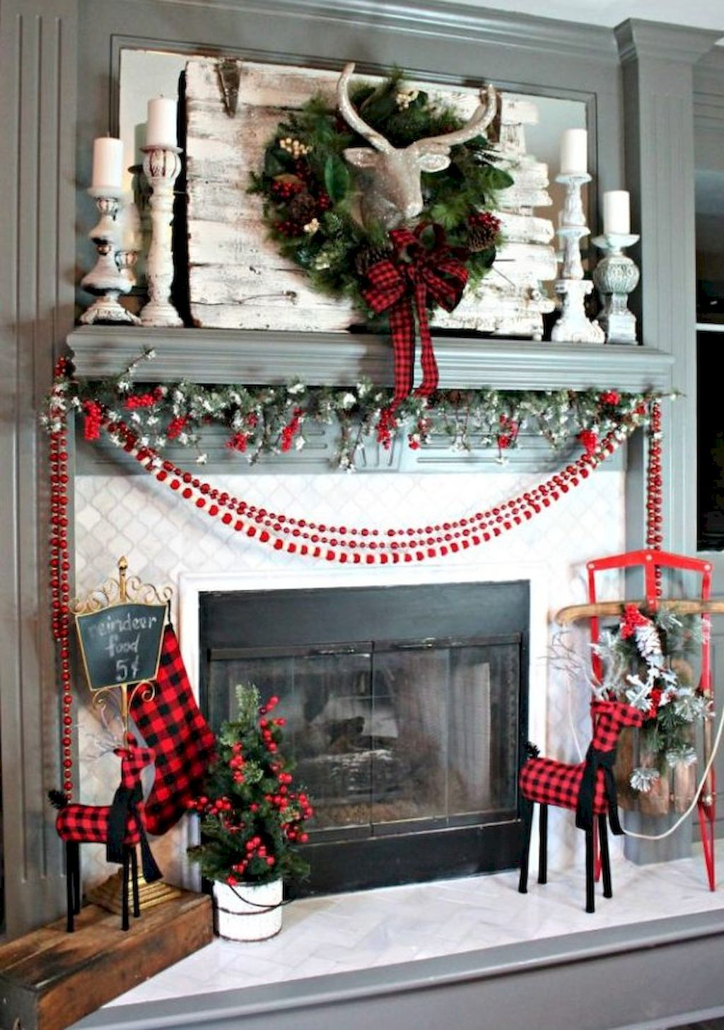 75 best christmas fire pit mantel decorating ideas - Best Christmas Mantel Decorations