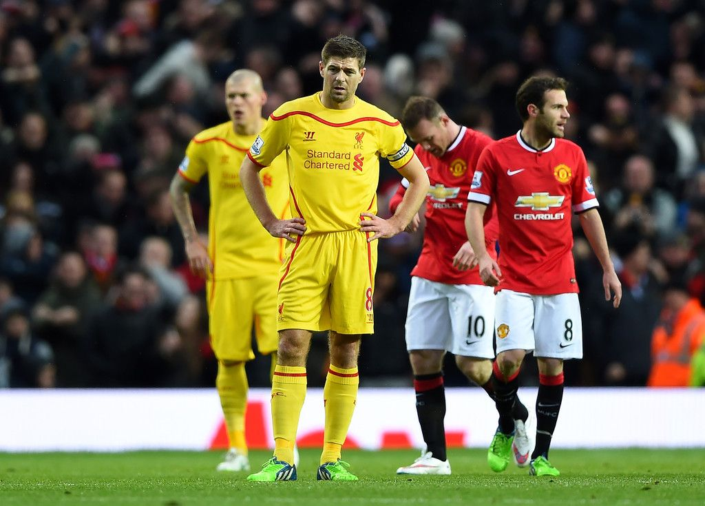 Steven Gerrard Photos Photos Manchester United V Liverpool Premier League Liverpool Vs Manchester United Liverpool Premier League Manchester United