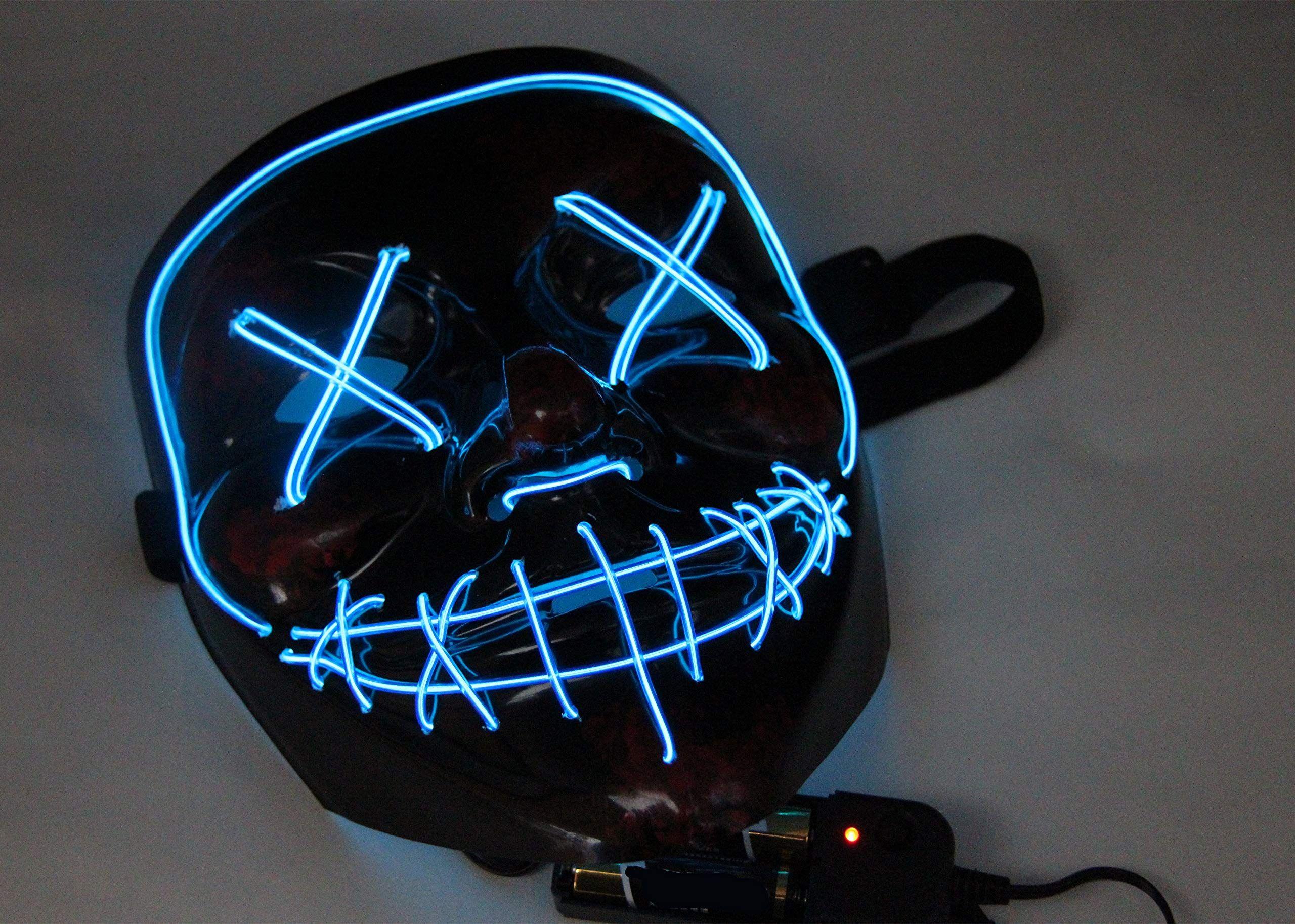heytech Halloween Scary Mask Cosplay Led Costume Mask EL
