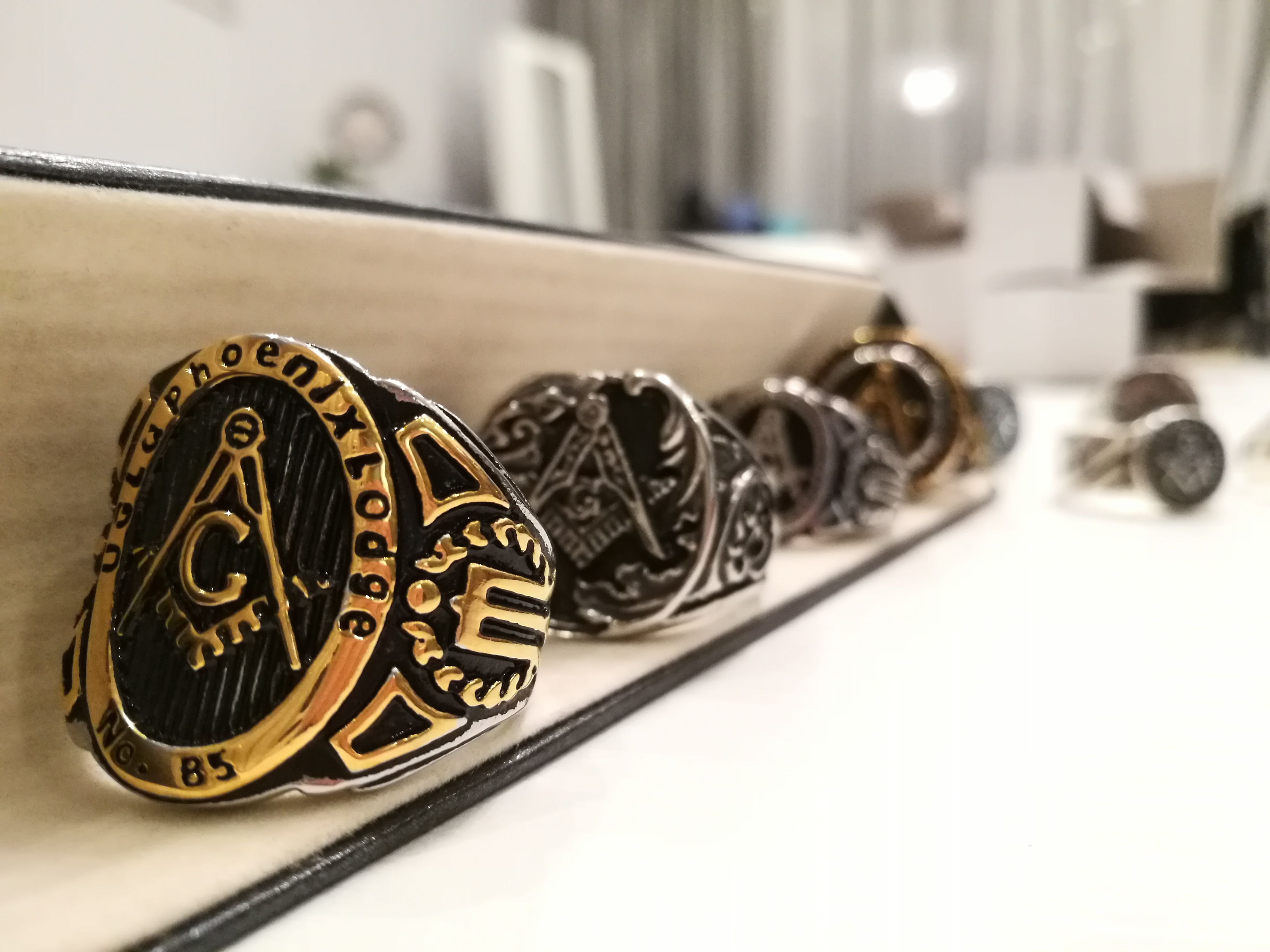 A collection of masonic rings with symbols of the blue lodge of a collection of masonic rings with symbols of the blue lodge of freemasonry the square biocorpaavc Images