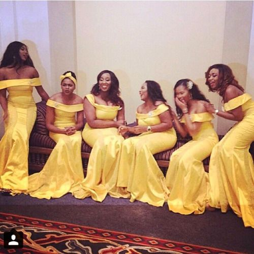 Lovely bridesmaids dresses by @aprilbykunbi ❤! #NWbms #Bridesmaids #NigerianWedding