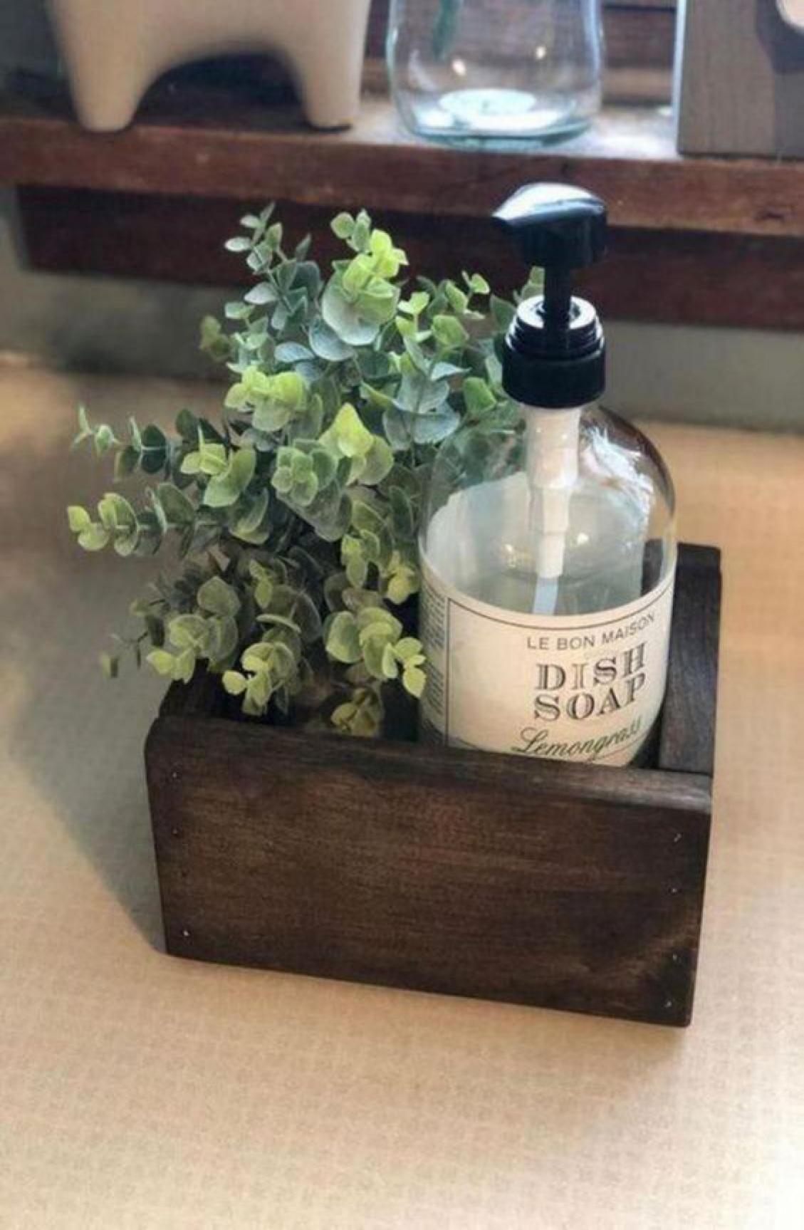 44 Genius Small Cottage Kitchen Design Ideas Decor In 2020 Kitchen Soap Holder Farmhouse Bathroom Decor Kitchen Soap
