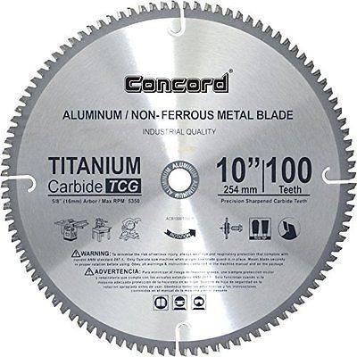 Concord Blades Acb1000t100hp 10 Inch 100 Teeth Tct Non Ferrous Metal Saw Blade