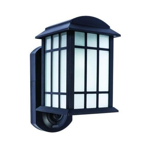 home security camera system outdoor wall lantern motion detector