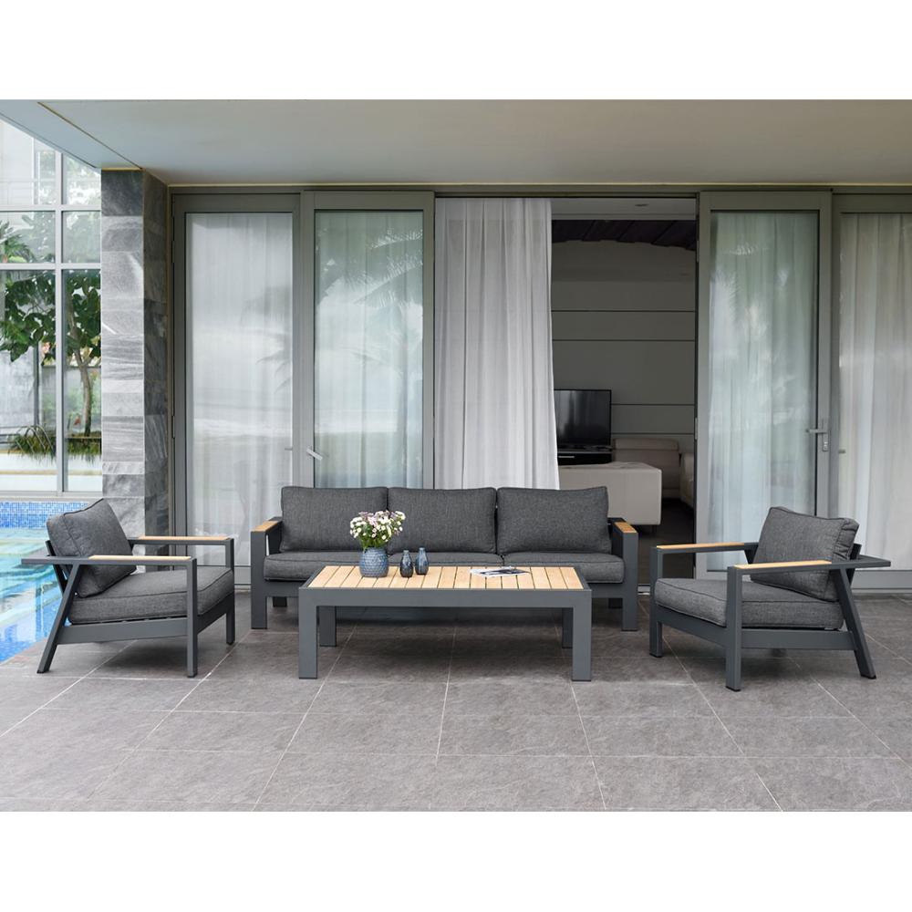 Lifestylegarden Palau 3 Sitzersofa 228cm Aluminium Olefin Dunkelgrau Lounge Sessel Lounge Mobel Mobelideen