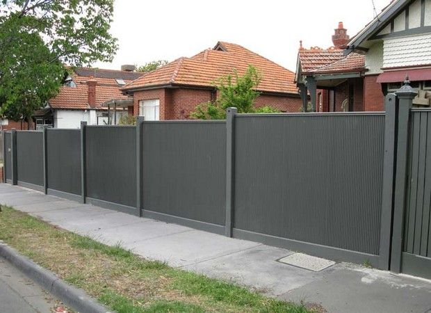 Related to corrugated metal fence panels outdoor ideas for Garden fencing ideas metal