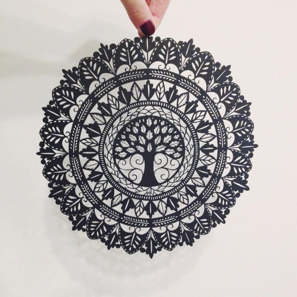 Papercut mandala by emily hogarth tatouages - Mandala paysage ...