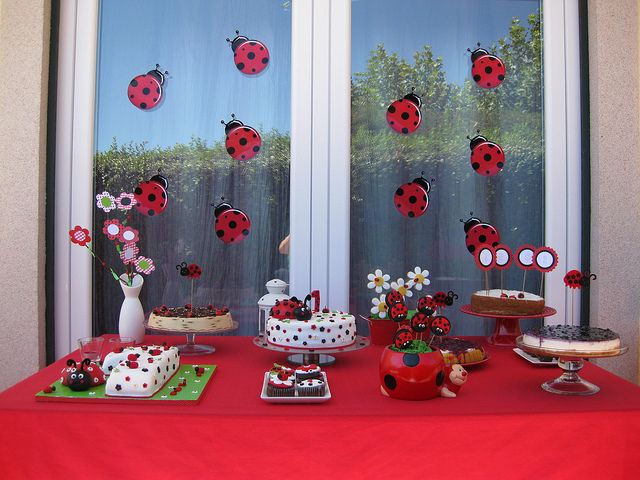 Sweet Table Ladybird Birthdays and Babyshower