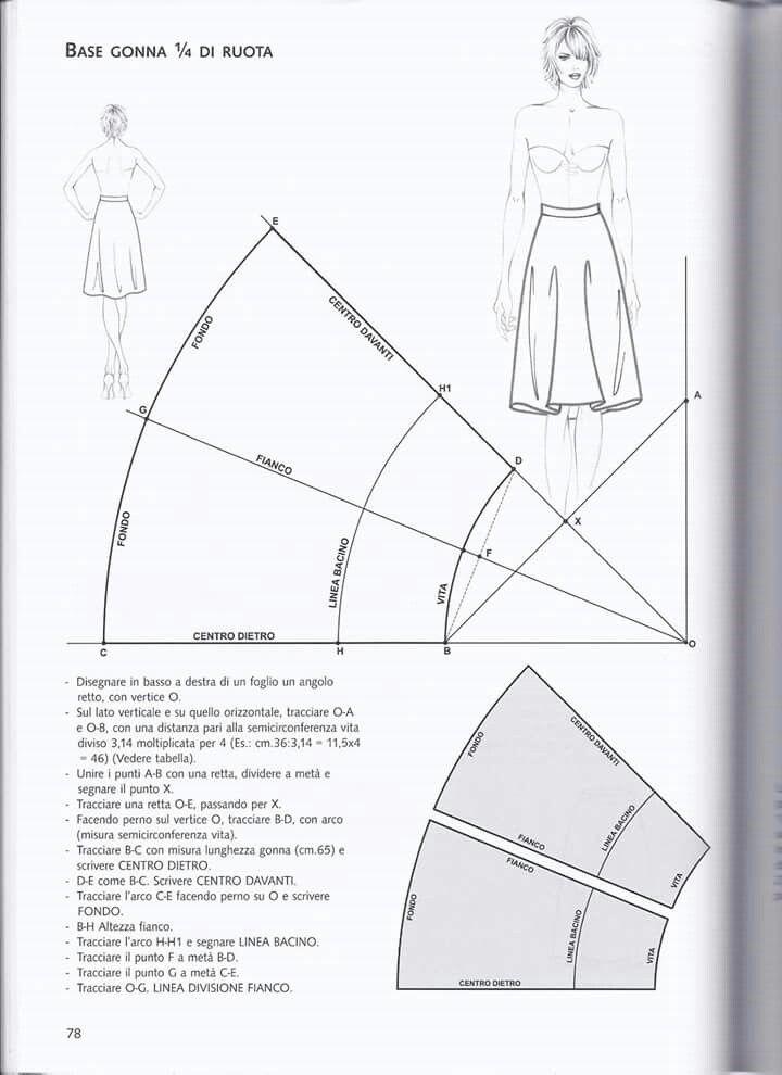 sports shoes 1564c 31e42 Pin di Johanna Zhang su Pola | Modelli gonna da cucire ...