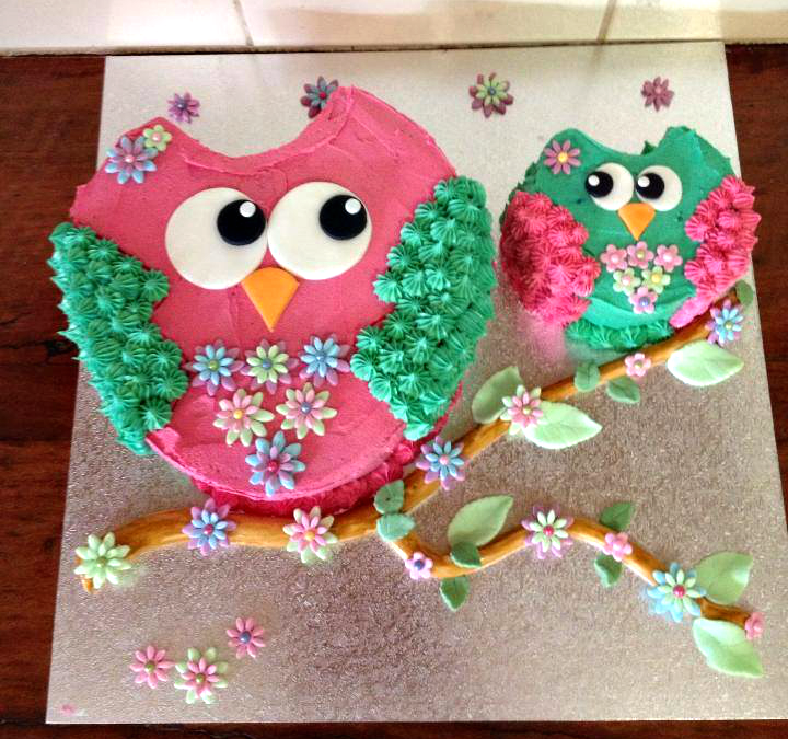 Owl Cupcakes For Baby Shower: Adorable Owl Themed Birthday Cakes