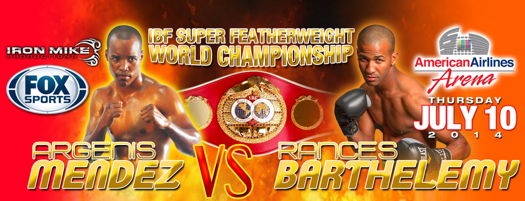 Argenis Mendez vs Rances Barthelemy Live streaming, Fox