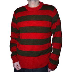 Red Green Striped Stripey Freddy Krueger Knitted Halloween Jumper ...