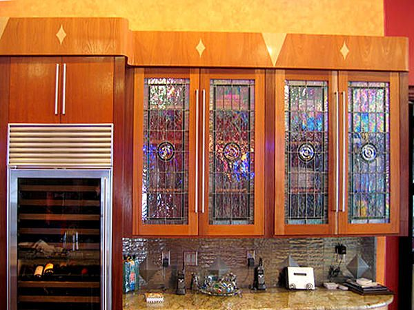 DbyD-8302 in 2019 | Kitchen Ideas | Stained glass cabinets ...
